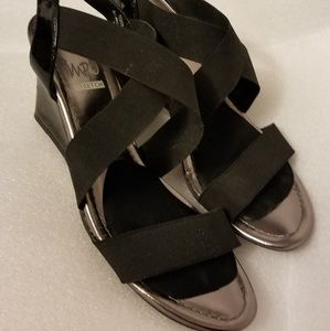 3/$25 Impo Sandals Strap Stretch wedge heel